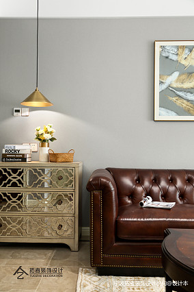 悠雅86平美式三居客厅实景图片三居美式经典家装装修案例效果图
