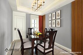 简洁124平美式三居餐厅装修图片三居美式经典家装装修案例效果图