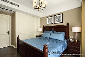 典雅107平美式三居卧室装修图片三居美式经典家装装修案例效果图