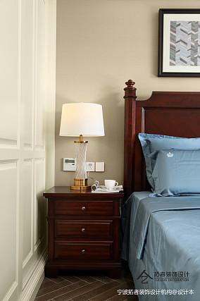 精美88平美式三居卧室布置图三居美式经典家装装修案例效果图