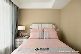 平美式三居卧室效果图三居美式经典家装装修案例效果图