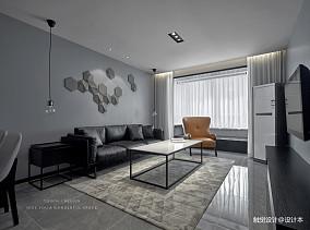 黑白简约客厅设计图片