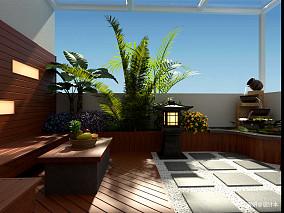 2018精选138平米中式复式花园装修欣赏图片