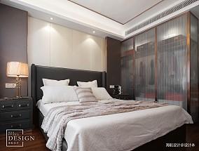 优雅107平现代三居卧室实拍图