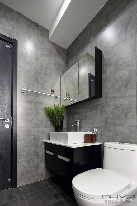 优雅101平混搭三居卫生间装修图卫生间