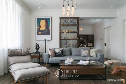 优雅25平北欧小户型客厅装饰图片卧室沙发81-100m²一居家装装修案例效果图