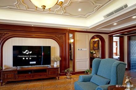 精美125平方美式别墅客厅装修图片客厅2图