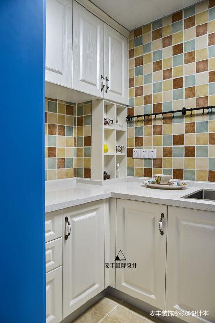 精致71平美式三居厨房设计美图餐厅