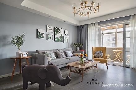 华丽59平北欧复式客厅案例图客厅
