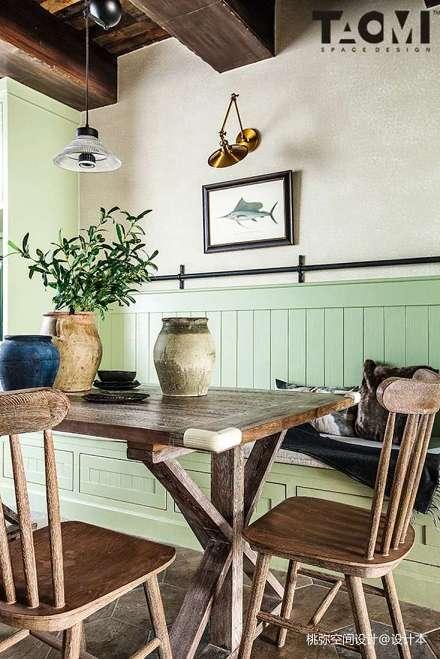 精选144平米四居餐厅田园装修实景图厨房