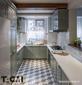悠雅76平混搭二居厨房实景图
