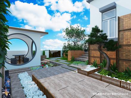 优雅831平中式别墅花园设计案例功能区