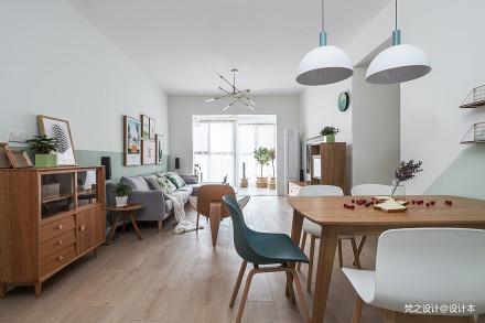 温馨80平北欧三居客厅设计效果图