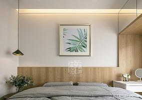 【尺子室内设计】素·沐 89㎡现代简约风卧室2图现代简约设计图片赏析