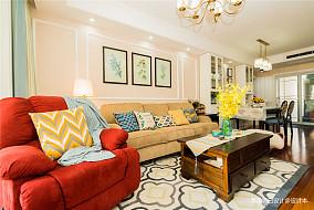 2018精选107平方三居客厅美式效果图片大全