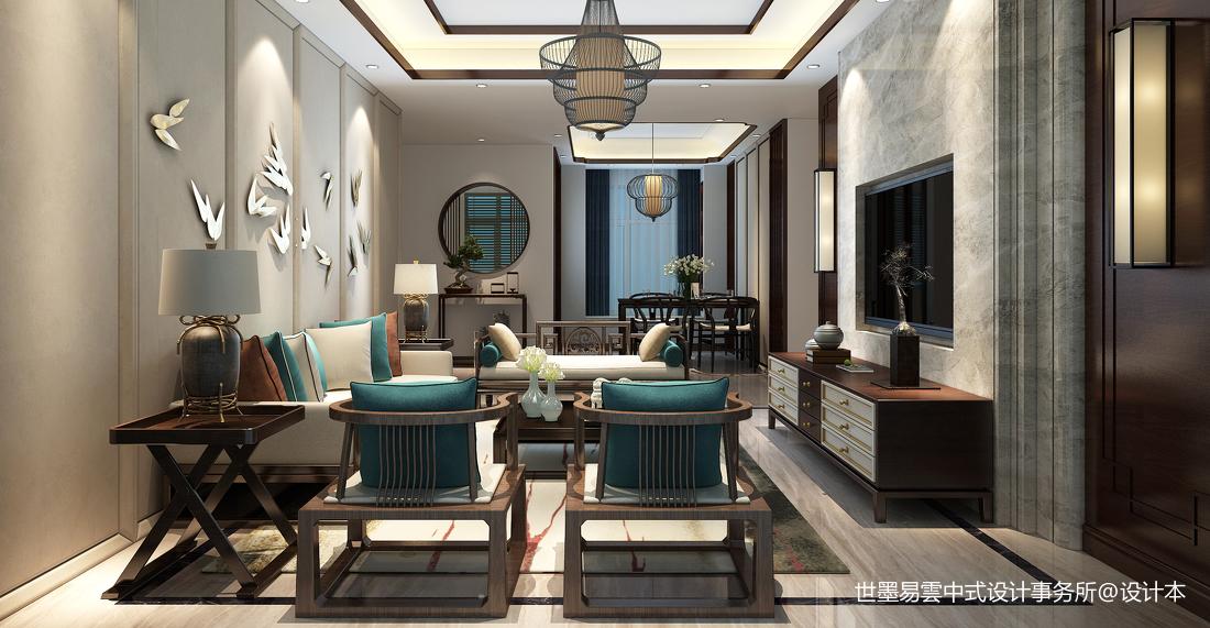 质朴296平中式样板间客厅实景图客厅中式现代客厅设计图片赏析