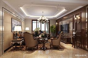 热门89平米二居客厅欧式装修实景图