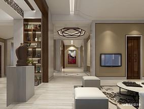 2018别墅客厅中式装修效果图