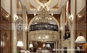 精美140平方美式别墅客厅装修欣赏图片