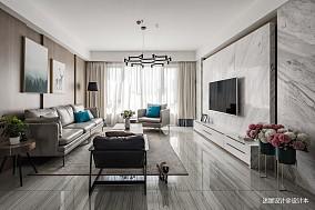 优美154平现代四居客厅设计图