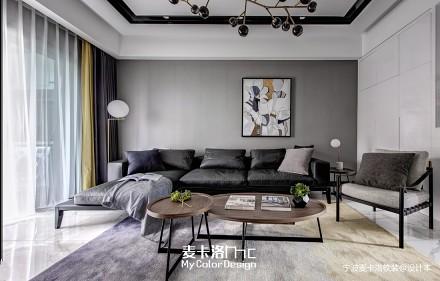 台式现代风客厅设计实景图三居现代简约家装装修案例效果图