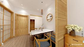 面积101平日式三居餐厅装修图片