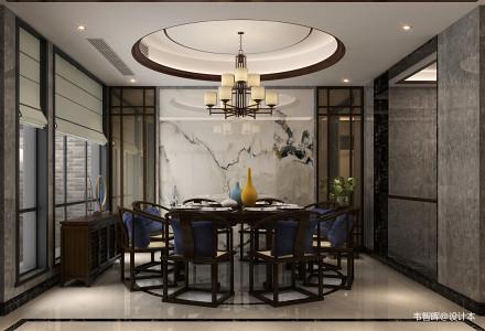 精美面积138平别墅餐厅中式装饰图片大全