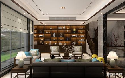 精选面积119平别墅客厅中式装修实景图