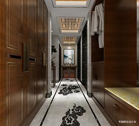 平方中式别墅玄关装修图片大全别墅豪宅中式现代家装装修案例效果图