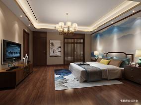 典雅611平中式别墅卧室设计图别墅豪宅中式现代家装装修案例效果图