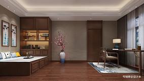 精选112平米中式别墅卧室装修图片大全家装装修案例效果图