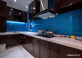 华丽86平北欧二居厨房装潢图二居北欧极简家装装修案例效果图