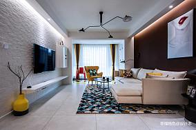 精美78平北欧二居客厅装修装饰图二居北欧极简家装装修案例效果图