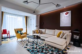 优雅78平北欧二居客厅装修图二居北欧极简家装装修案例效果图