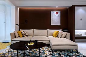 明亮64平北欧二居客厅装修效果图二居北欧极简家装装修案例效果图