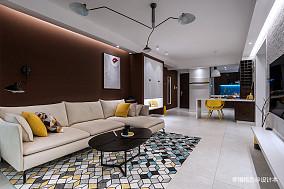 轻奢61平北欧二居客厅设计图二居北欧极简家装装修案例效果图