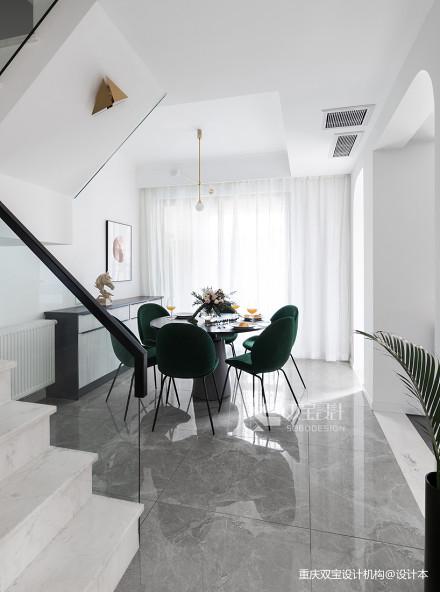 大气51平法式二居餐厅装修装饰图厨房2图