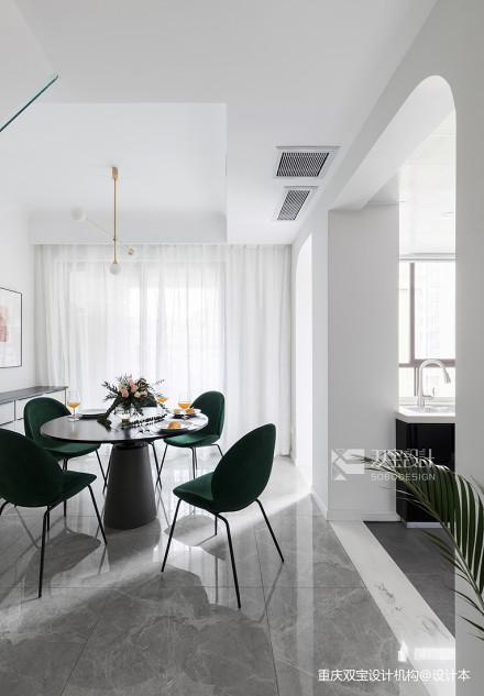 轻奢87平法式二居餐厅装修设计图厨房1图