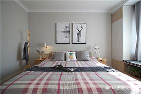 精美96平方三居卧室北欧效果图片欣赏