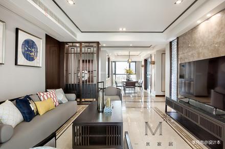 浪漫134平中式四居客厅设计案例客厅