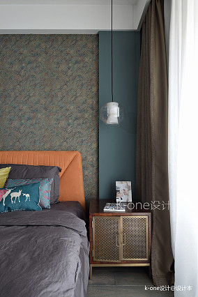 质朴120平混搭三居卧室设计案例