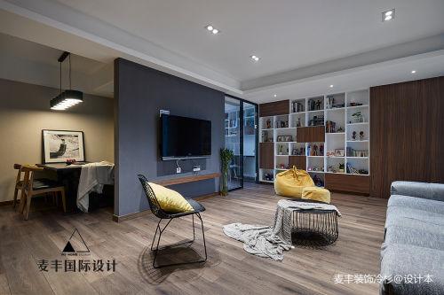 质朴87平现代三居设计美图客厅电视背景墙