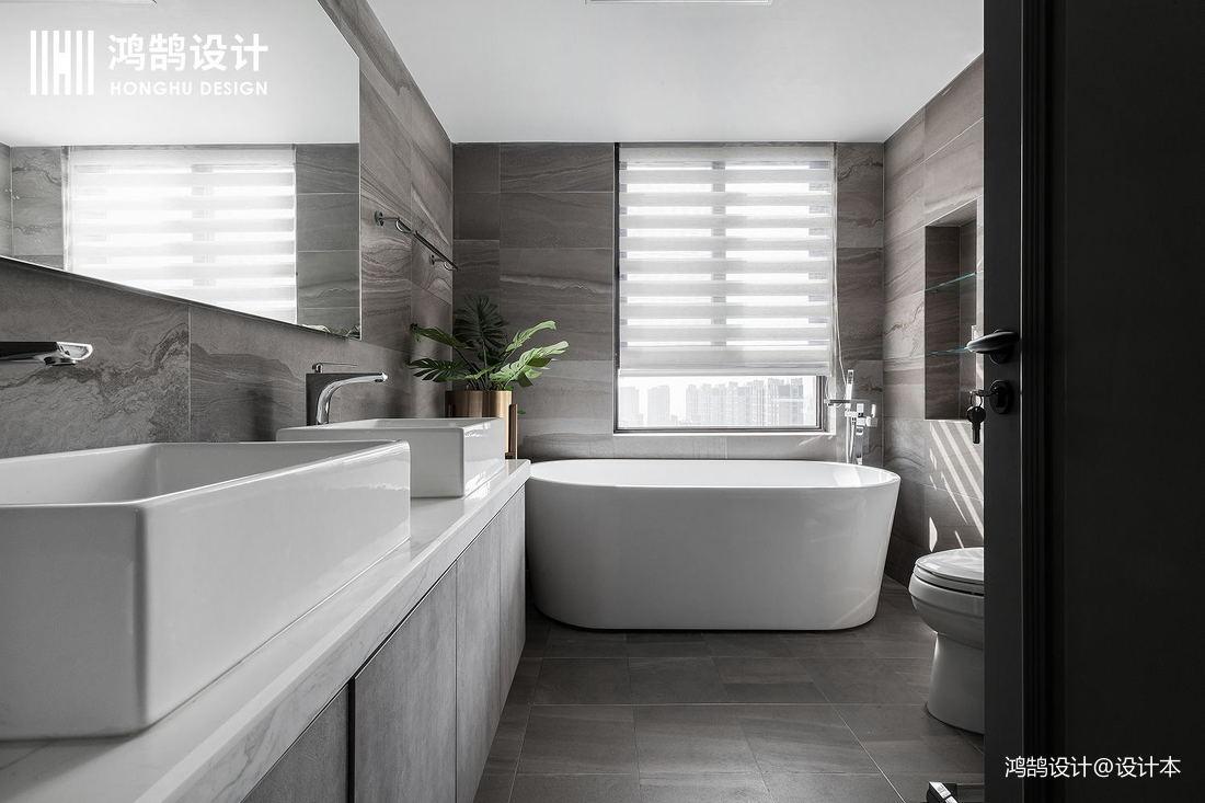 简洁222平现代三居卫生间装修美图卫生间现代简约卫生间设计图片赏析