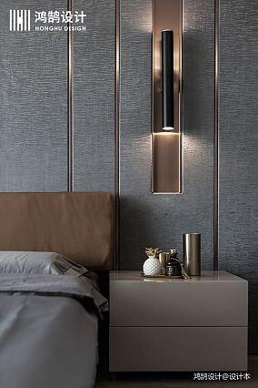 大气93平现代三居卧室装饰图