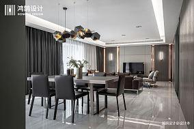 明亮76平现代三居餐厅案例图三居现代简约家装装修案例效果图