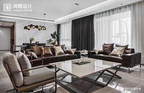 质朴77平现代三居客厅装修效果图三居现代简约家装装修案例效果图