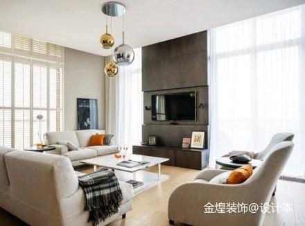 精美简约二居客厅装修效果图片大全二居现代简约家装装修案例效果图
