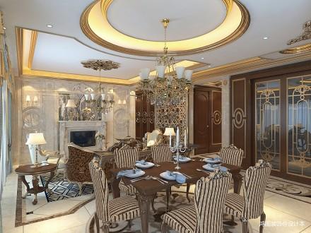 典雅138平新古典四居餐厅装修图片