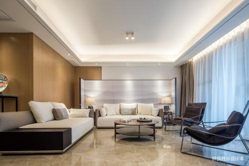 2018四居客厅日式装修效果图客厅窗帘四居及以上家装装修案例效果图