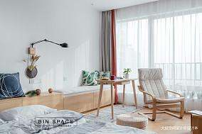 明亮22平简约小户型书房效果图欣赏一居现代简约家装装修案例效果图